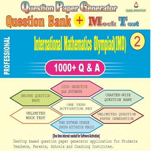 IMO (Class-2) Question Bank + Mock Test + Question Paper Generator