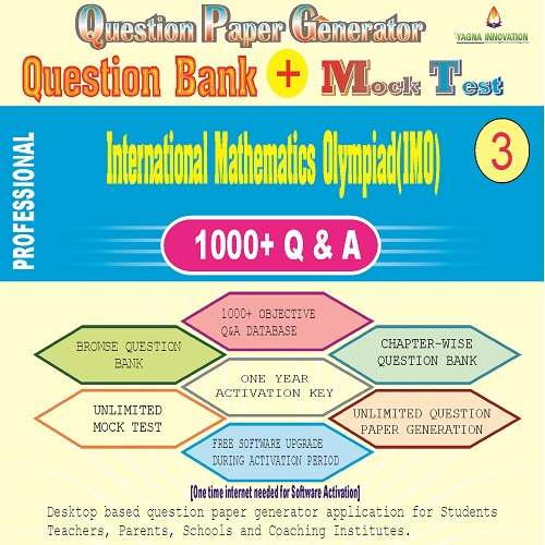 IMO (Class-3) Question Bank + Mock Test + Question Paper Generator