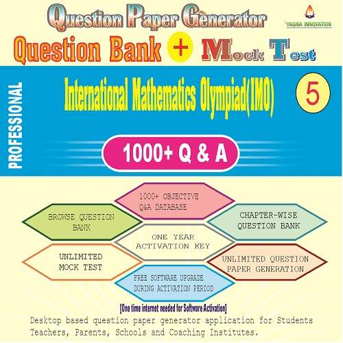 IMO (Class-5) Question Bank + Mock Test + Question Paper Generator