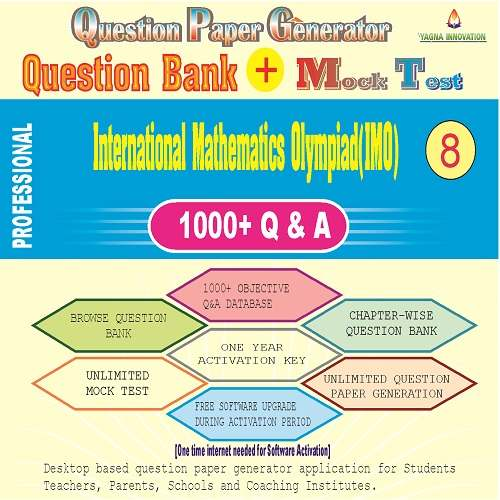IMO (Class-8) Question Bank + Mock Test + Question Paper Generator