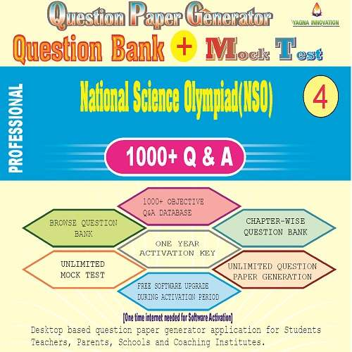 NSO (Class-4) Question Bank + Mock Test + Question Paper Generator