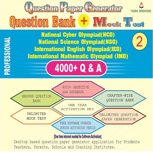 NCO/NSO/IEO/IMO (class-2) Question Bank + Mock Test + Question Paper Generator