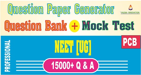 NEET PCB Question Bank + Mock Test + Question Paper Generator