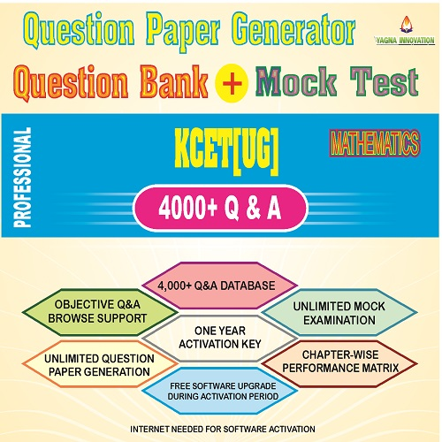 KCET/COMEDK Maths Question Bank + Mock Test + Question Paper Generator