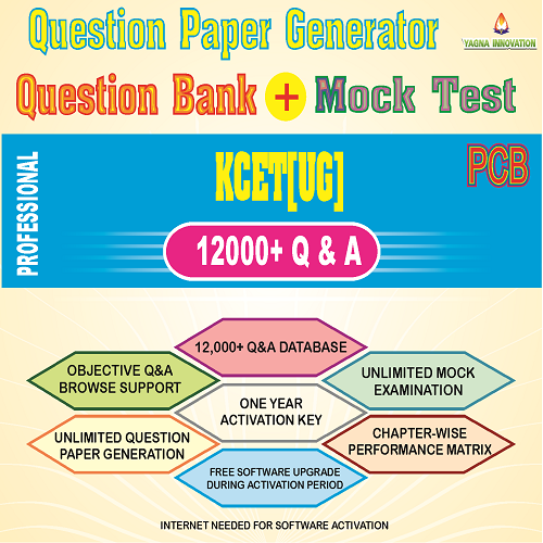 KCET PCB Question Bank + Mock Test + Question Paper Generator