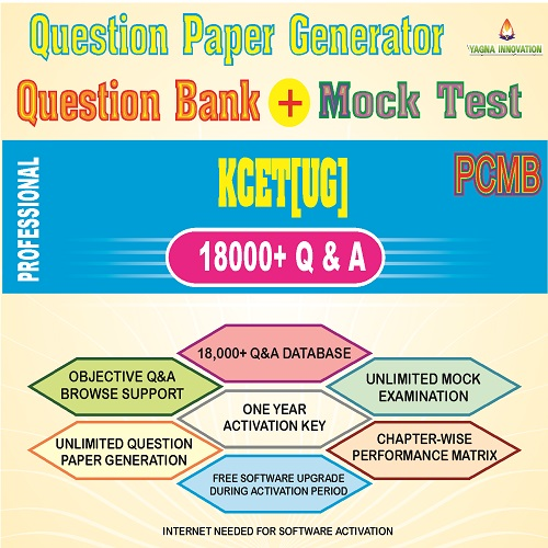 KCET/COMEDK PCMB Question Bank + Mock Test + Question Paper Generator