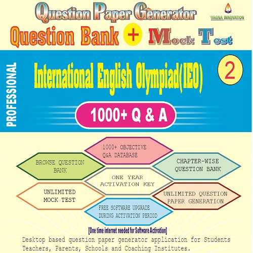 IEO (Class-2) Question Bank + Mock Test + Question Paper Generator
