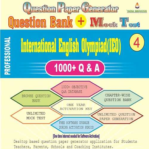 IEO (Class-4) Question Bank + Mock Test + Question Paper Generator