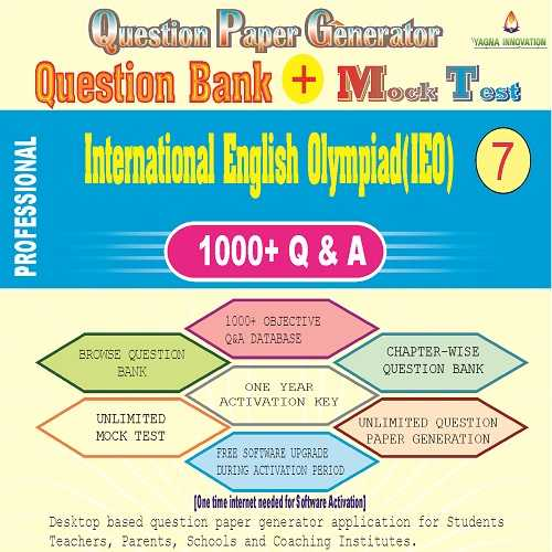IEO (Class-7) Question Bank + Mock Test + Question Paper Generator