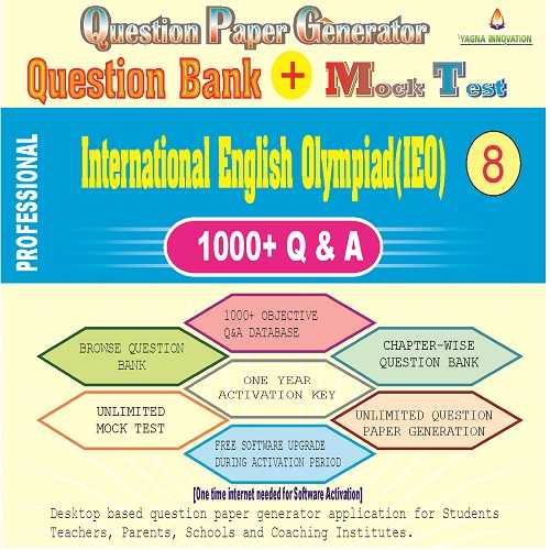 IEO (Class-8) Question Bank + Mock Test + Question Paper Generator