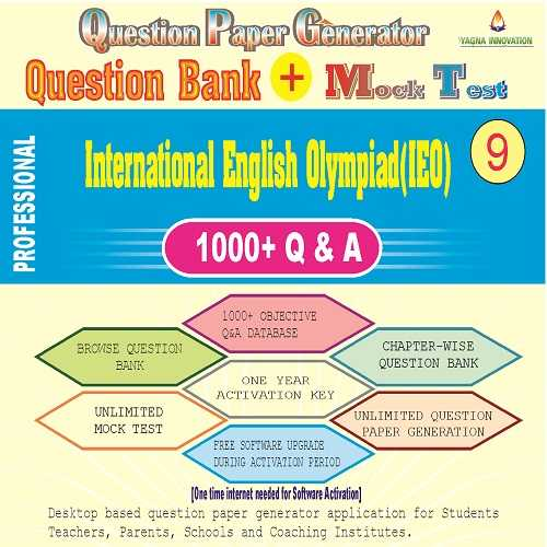 IEO (Class-9) Question Bank + Mock Test + Question Paper Generator