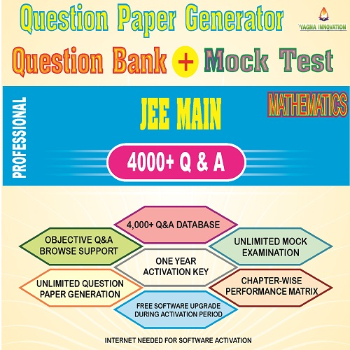 JEE Main Mathematics Question Bank + Mock Test + Question Paper Generator